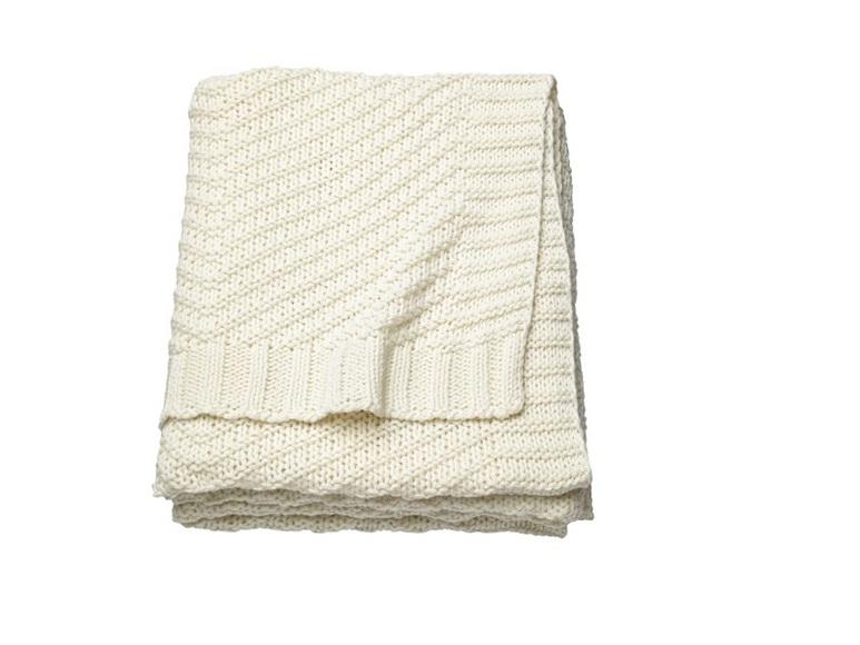 Плед (ЭННИАНН) белый (130х170) IKEA