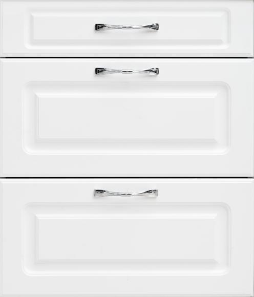 Кухонный гарнитур МДФ Квадро классика белая матовая 0018-S1P - 5