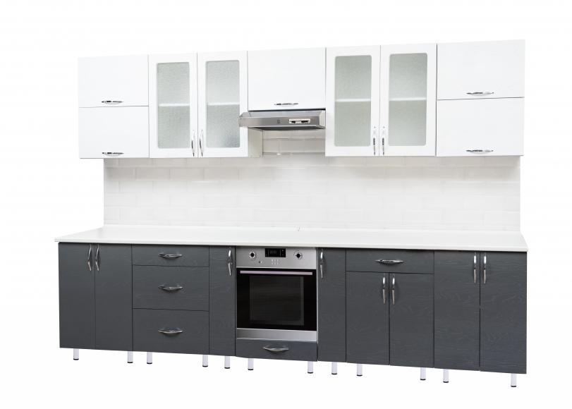 Кухонный гарнитур(массив бьянко/массив гриджо)