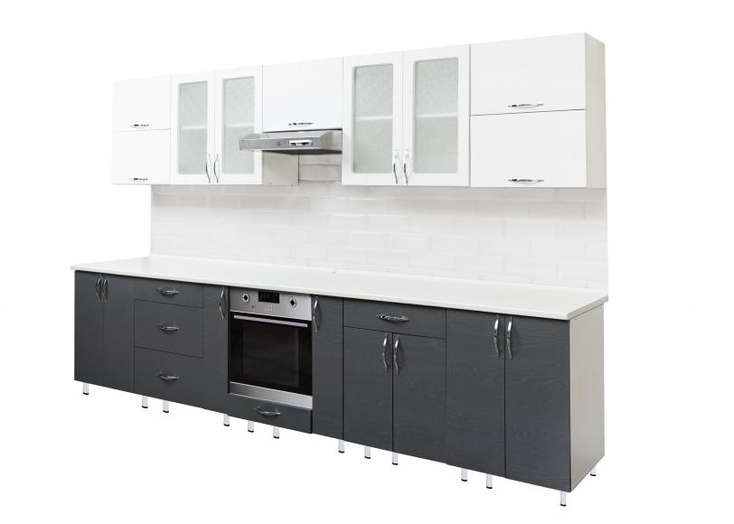 Кухонный гарнитур(массив бьянко/массив гриджо) - 2