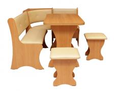 Кухонный уголок Маркиз + простой стол + 2 табурета