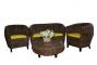 Комплект мебели из ротанга Гери 2+1+1 и столик кофейный - 2