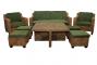 Комплект мебели из ротанга Ерлина 2+1+1 и столик кофейный + 4 стульчика - 2