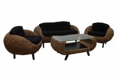 Комплект мебели из ротанга Краб 2+1+1 и столик кофейный
