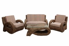 Комплект мебели из ротанга Альфа 2 +1 +1 и столик кофейный