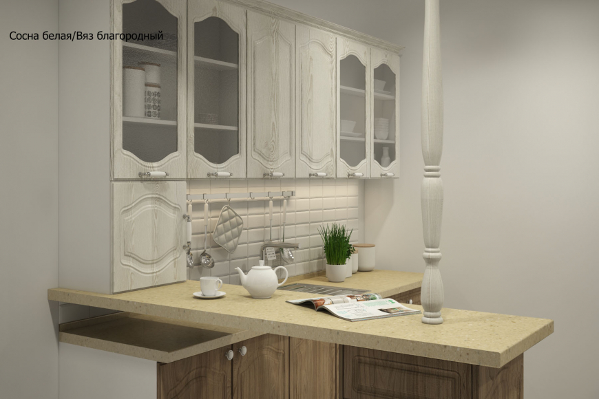 Классическая прямая кухня - 11