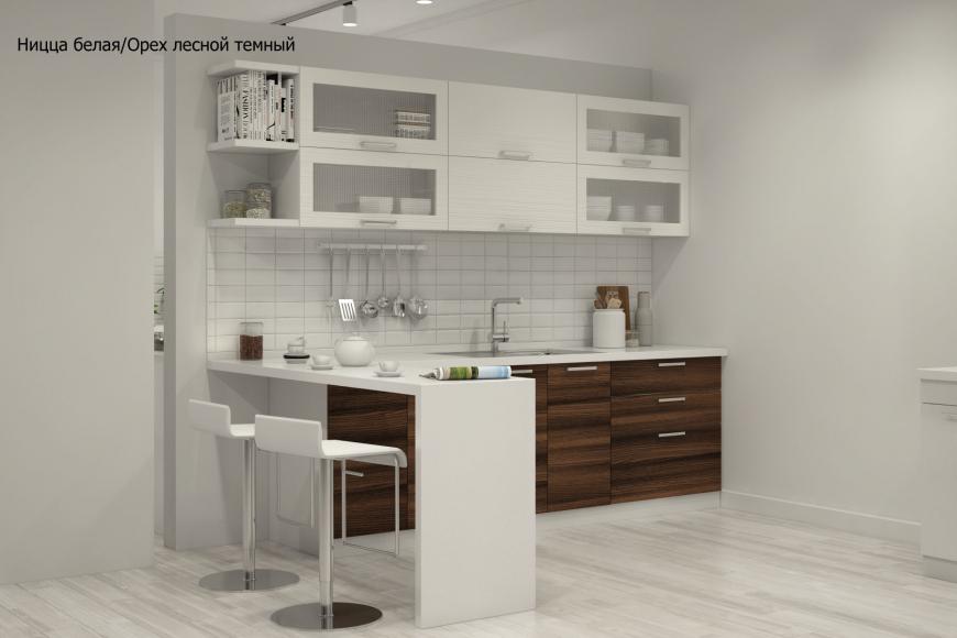 Кухня модерн прямая с барной стойкой - 7