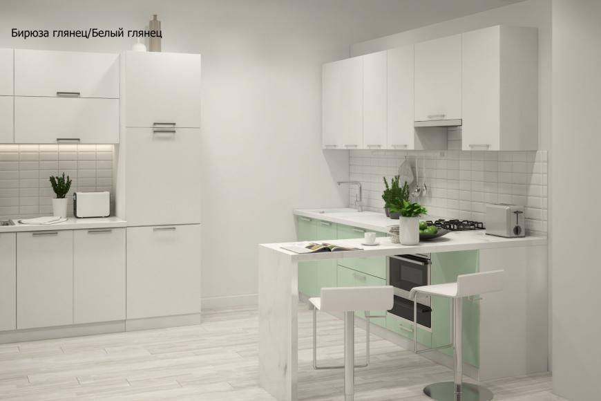 Кухня модерн угловая с барной стойкой - 2