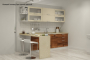 Кухня модерн прямая с барной стойкой - 11