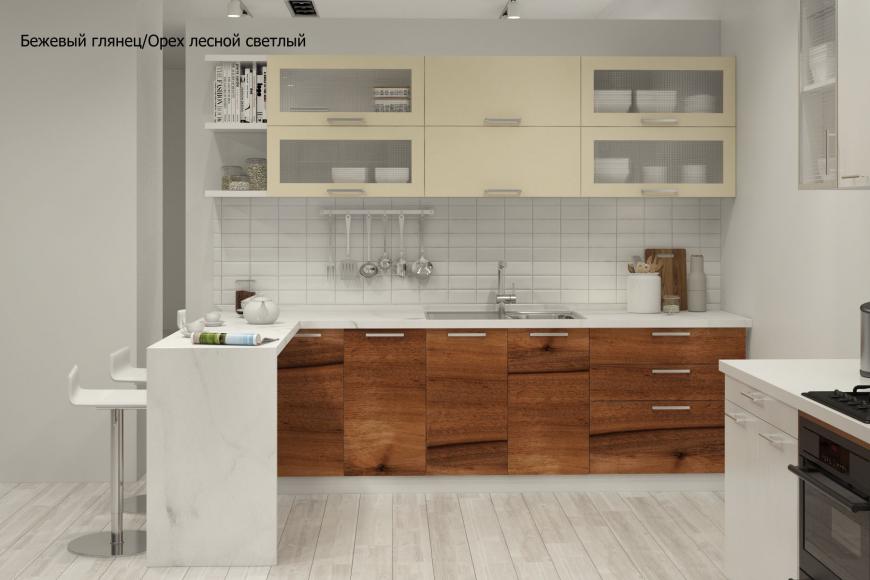 Кухня модерн прямая с барной стойкой - 2