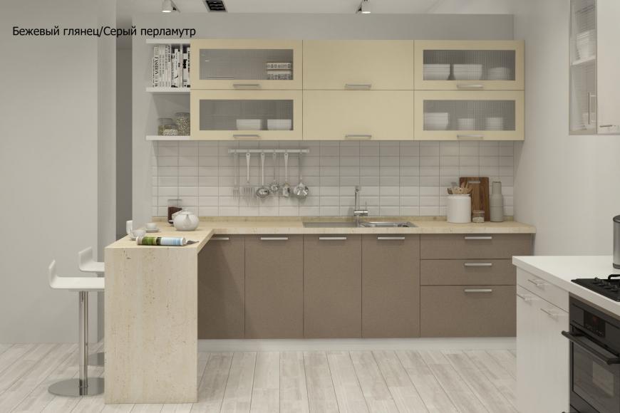 Кухня модерн прямая с барной стойкой - 3