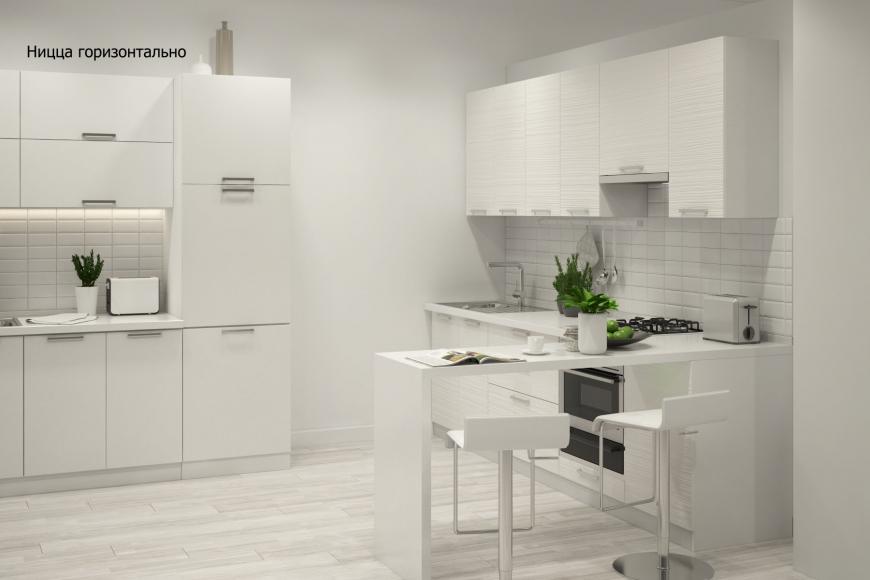 Кухня модерн угловая с барной стойкой - 6