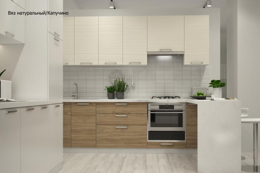 Кухня модерн угловая с барной стойкой - 10