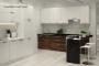 Кухня модерн угловая с барной стойкой - 18