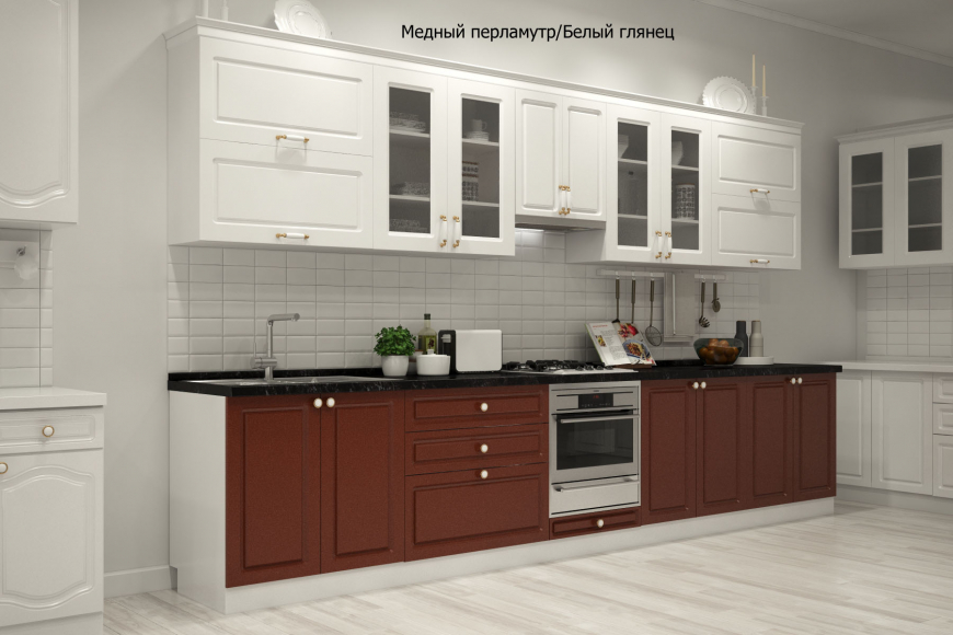Кухня неоклассика прямая - 6