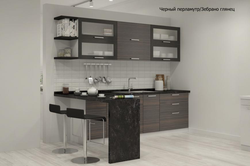 Кухня модерн прямая с барной стойкой - 9