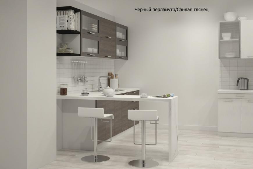 Кухня модерн прямая с барной стойкой - 10