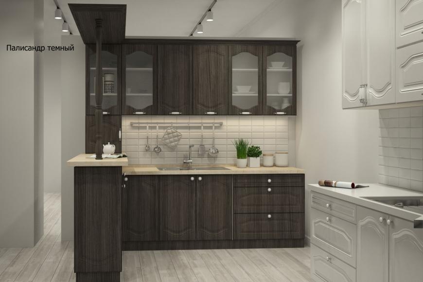 Классическая прямая кухня - 8