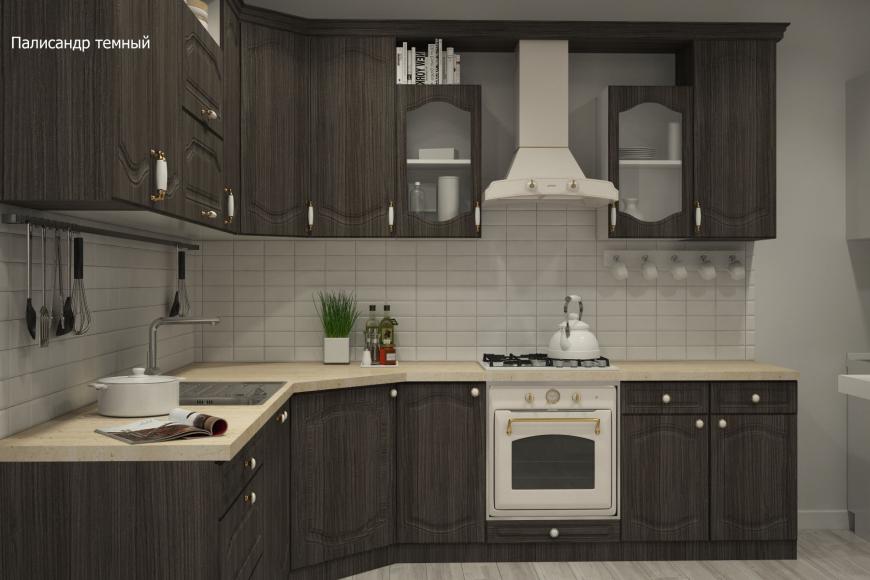 Классическая угловая кухня - 8