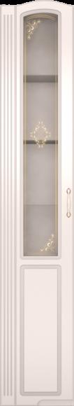 Шкаф для белья левый со стеклом Виктория 17 ИЖ