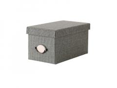Коробка с крышкой (КВАРНВИК) серый (16х29х15 см) IKEA