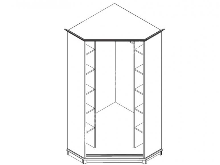 Шкаф угловой 2dnH (S-036a) - 2