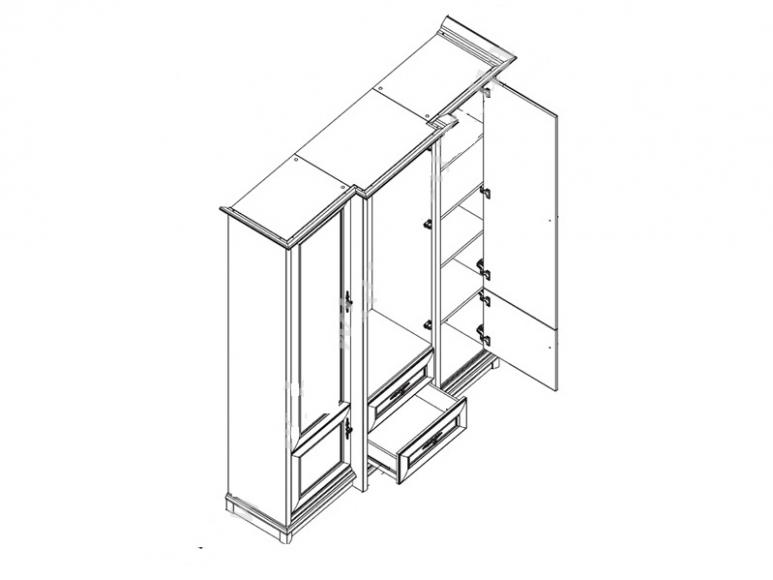 Шкаф  Соната-034  3Д/2S КЗ - 2