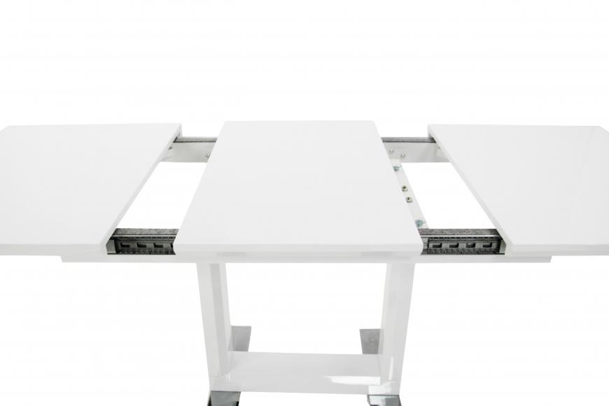 Стол  MK-5518-WT обеденный раскладной 80х120(170)х - 6