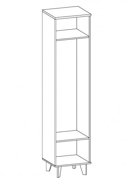 Шкаф для одежды 10,194 ЛАРГО  мдф (Шкаф 500)Инт. - 2