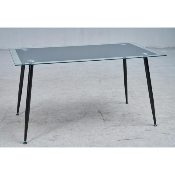 Стол Тироль MK-7033-BL обеденный стеклянный 80х140