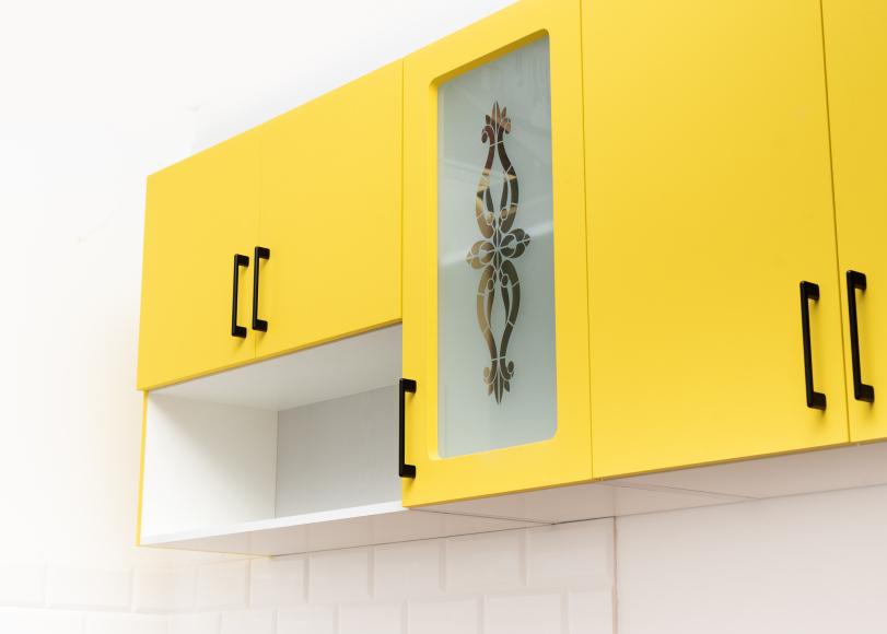 Кухонный гарнитур МДФ ФГЛ верх спелое манго/молочный шоколад - 12