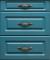 Кухонный гарнитур МДФ квадро классика верх массив бьянко. низ дуб аквамарин - 12