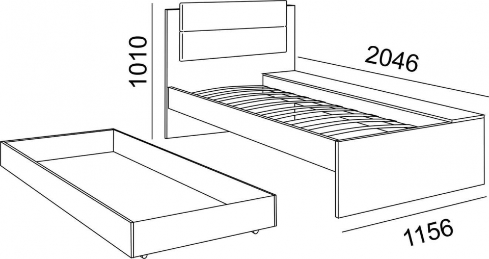 Кровать 0,8*1950  № 14 Walker Рин. - 3
