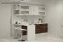 Кухня модерн прямая с барной стойкой - 17