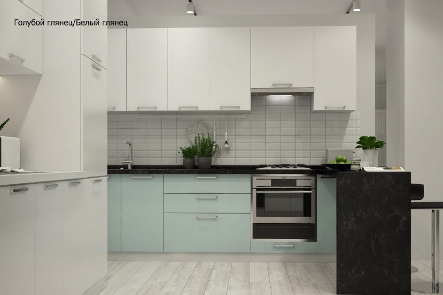 Кухня модерн угловая с барной стойкой - 3