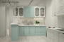 Классическая прямая кухня - 13