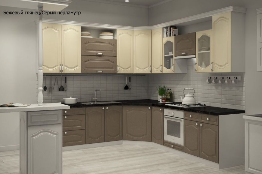 Классическая угловая кухня - 2
