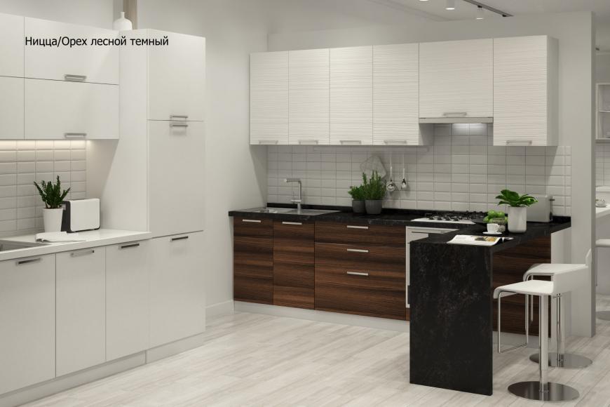 Кухня модерн угловая с барной стойкой - 7