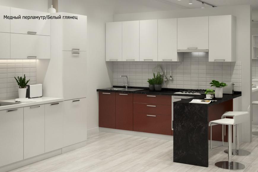 Кухня модерн угловая с барной стойкой - 4