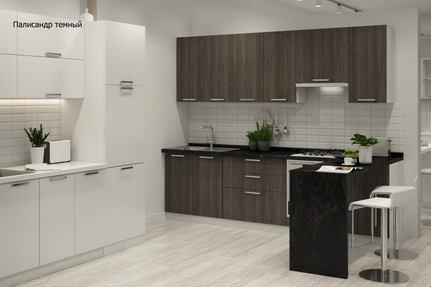 Кухня модерн угловая с барной стойкой - 8