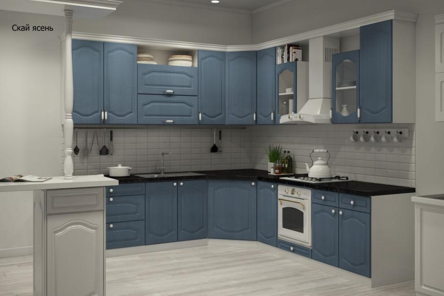Классическая угловая кухня - 10