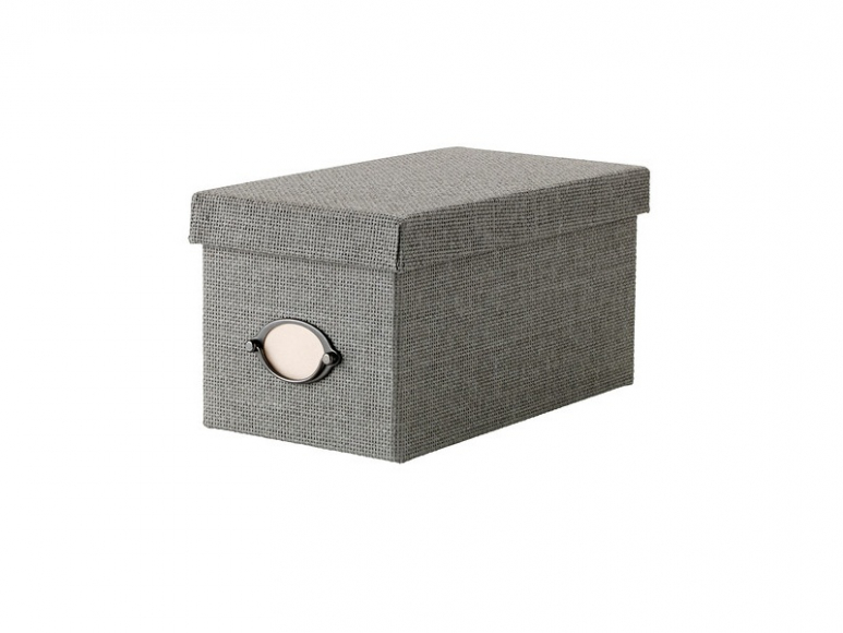 Коробка с крышкой (КВАРНВИК) серый (16х29х15 см) I
